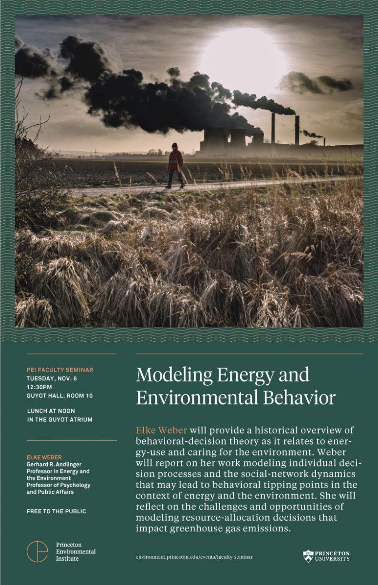 Modeling Energy and Environmental Behavior flyer